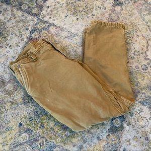 ❄️ Eddie Bauer Fleece Lined Tan Pants 34/32